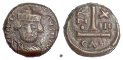 Ancient Coins - Byzantine, HERACLIUS. AE 10 nummi, Catania mint (Sicily) struck 622/3 AD