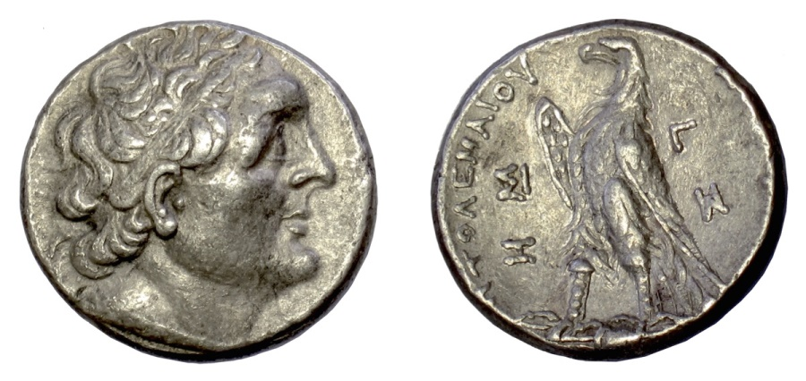 Ancient Coins - PTOLEMAIC KINGS of EGYPT, Ptolemy III Euergetes. AR Tetradrachm. Sidon mint. Dated RY 3 (245/4 BC)