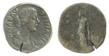 Ancient Coins - Diva Faustina Junior. AE sestertius. Rome mint. Struck under Marcus Aurelius, circa AD 175-176