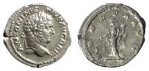 Ancient Coins - CARACALLA. AR denarius. Rome mint, struck AD 212-213. Moneta