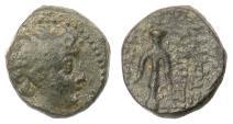 Ancient Coins - SELEUKID, Demetrios II Nikator. AE denom C, first reign, 146-138 BCE. Anchor