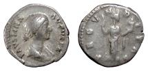 Ancient Coins - FAUSTINA Jr. AR Denarius, Rome mint,  161-164 AD. Fecunditas