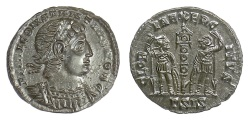 Ancient Coins - Constantius II. AE Follis, Siscia mint, struck 337-341 AD