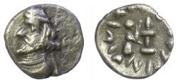 Ancient Coins - Persis, VAHSIR (Oxatheres). AR obol, circa 50-0 BCE