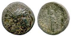 Ancient Coins - SELEUKID, Antiochos IV. AE denom B, Antioch/Orontes mint 175-164 BCE. Zeus. Scarce