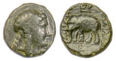 Ancient Coins - SELEUKID KINGS, Antiochos III 'the Great'. AE denom D, Sardeis, 222-187 BC, Scarce