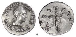 Ancient Coins - Baktria, MENANDER I Soter.  AR drachm, circa 155-130 BC