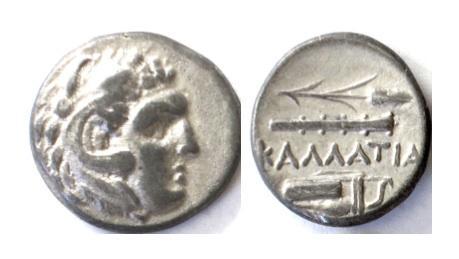 Ancient Coins - MOESIA. Kallatis. AR Drachm. 3rd-2nd centuries BC
