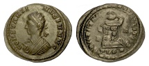 Ancient Coins - Constantine II. AE follis, London mint, struck 321 AD. Globe set on altar