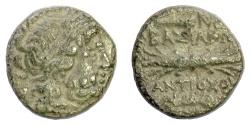 Ancient Coins - SELEUKID KINGS of SYRIA, Antiochus I Soter. AE denomination B, Antioch mint. Zeus / thunderbolt