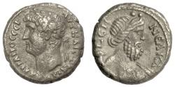 Ancient Coins - HADRIAN.  EGYPT, Alexandria. BI Tetradrachm. Dated RY 19 (AD 134/135)