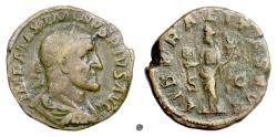 Ancient Coins - MAXIMINUS I.   AE Sestertius, Rome mint, 236 AD.  Liberalitas