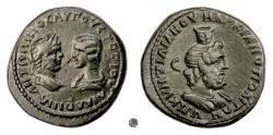 Ancient Coins - CARACALLA with JULIA DOMNA, Marcianopolis.  AE Pentassarion, 215 AD