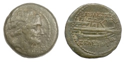 Ancient Coins - SELEUKID KINGS, Seleukos IV. AE denomination B, Tyre mint, 178-77 BC