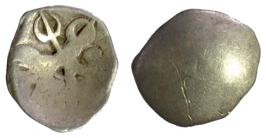 Ancient Coins - INDIA, Kingdom of Gandhara Janapada. AR Shana, circa 500-331 BC
