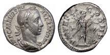 Ancient Coins - Severus Alexander. AR denarius, Rome, struck 227 AD. Mars