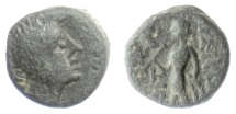 Ancient Coins - SELEUKID KINGS, Antiochos III 'the Great'. AE denomination D,  Ptolemais(?) mint. Apollo