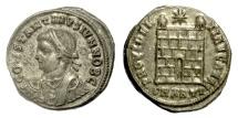 Ancient Coins - Constantine II, as Caesar. AE follis, Antioch mint. Struck AD 326-327. Camp gate