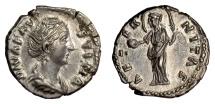Ancient Coins - ROMAN, Diva Faustina Senior. AR denarius, Rome mint, after 147 AD. Providentia