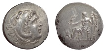 Ancient Coins - Alexander III 'the Great'. PAMPHYLIA, Perge. AR tetradrachm, circa 202/1 BC. Sphinx