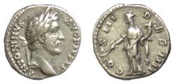 Ancient Coins - Antoninus Pius. AR denarius. Rome mint, struck AD 144