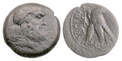 Ancient Coins - EGYPT, Ptolemy X Soter II. AE 24, 116-80 BC. Zeus / Eagle. Rare