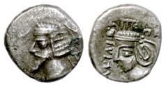 Ancient Coins - KINGS of PARTHIA, Phraatakes, with Musa. BI Drachm, Susa mint, circa 2BC-4AD