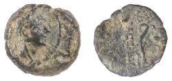 Ancient Coins - SELEUKID KINGS, Alexander II Zabinas. AE denom. C, Antioch, 125-122 BC. Scarce