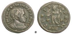 Ancient Coins - MAXIMINUS II. AE Follis, Treveri (Trier) mint, 310-313 AD. Genius