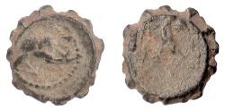 Ancient Coins - SELEUKID KINGS, Alexander II Zabinas. Serrate AE denomination C, Apamea mint, 128-122 BC. RARE