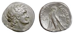 Ancient Coins - EGYPT, Cleopatra III and Ptolemy IX. AR tetradrachm, Paphos mint, 116 BC.