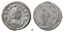 Ancient Coins - SALONINA.  AR Antoninianus, Asian mint, struck 267 AD. Salus