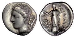 Ancient Coins - THESSALY, Pherai. AR Hemidrachm, circa 302-286 BC. Ennodia / Hyperia. RARE
