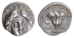 Ancient Coins - Carian Islands, RHODES. AR Didrachm, circa 229-205 BC. Helios / Rose