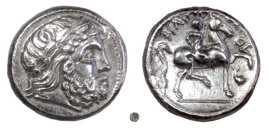 Ancient Coins - Philip II of Macedon.  AR tetradrachm, eastern european imitation