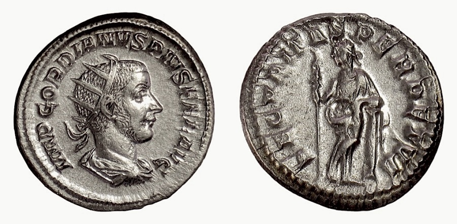 Ancient Coins - Gordian III. AR antoninianus, Rome mint, 243-244 AD. Securitas