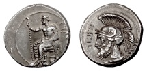 Ancient Coins - CILICIA, TARSOS. Persian commander Pharnabazos. AR Stater, struck c. 380-379 BC