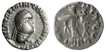 Ancient Coins - BAKTRIA, Indo-Greek Kingdom. Apollodotos II Soter. AR Drachm, circa 80-65 BC