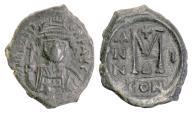BYZANTINE, Heraclius, AE follis, Constantinople mint, RY I (610/11 AD)