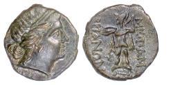 Ancient Coins - THRACE, Mesambria. AE 18, circa 175-100 BC.  Female head / Athena