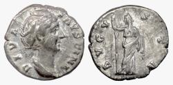 Ancient Coins - DIVA FAUSTINA SR. AR Denarius, Rome mint, struck after 147 AD. Ceres