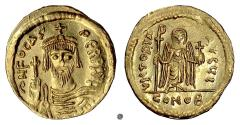 Ancient Coins - BYZANTINE, Phocas. AV Solidus, Constantinople mint. Struck 607-610