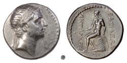 Ancient Coins - SELEUKID, Antiochus III. AR Tetradrachm, 222-187 BC. Apollo