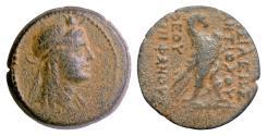 Ancient Coins - SELEUKID KINGS, Antiochos IV. AE 25, Antioch,169-168 BC. Isis / Eagle. Scarce