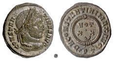 Ancient Coins - CONSTANTINE I.  AE follis, Ticinum Mint, struck 322-325 AD