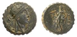 Ancient Coins - SELEUKID KINGS of SYRIA, Seleukos IV. AE serrate denomination A.  Antioch, 187-175 BC