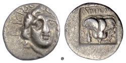 Ancient Coins - ISLANDS off CARIA, Rhodos, RHODES. AR Hemidrachm; Artemon, magistrate; circa 170-150 BC