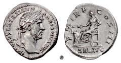Ancient Coins - HADRIAN.   AR Denarius, Rome mint, 119-123 AD