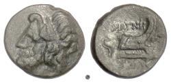 Ancient Coins - THESSALY, Magnetes. AE dichalkon, Demetrias mint, mid 2nd-mid 1st centuries BC. Zeus / Prow