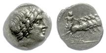 Ancient Coins - Roman Republic, AR denarius. Anonymous, Rome mint, 86 BC. Apollo / Jupiter